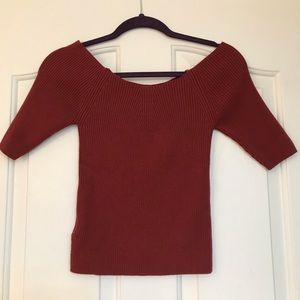 Free People Ripped Sweater Top